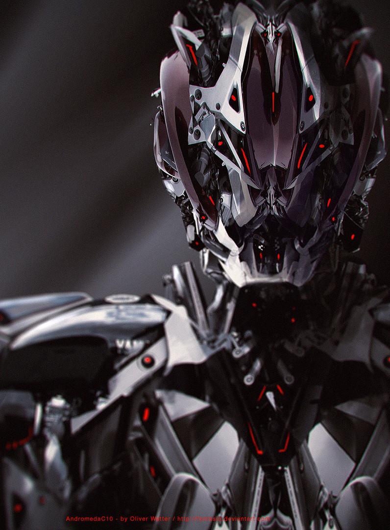 AndromedaC10 - Motorrad Cyborg Portrait