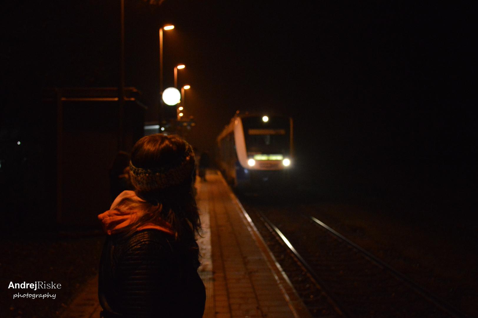 anfahrender Zug