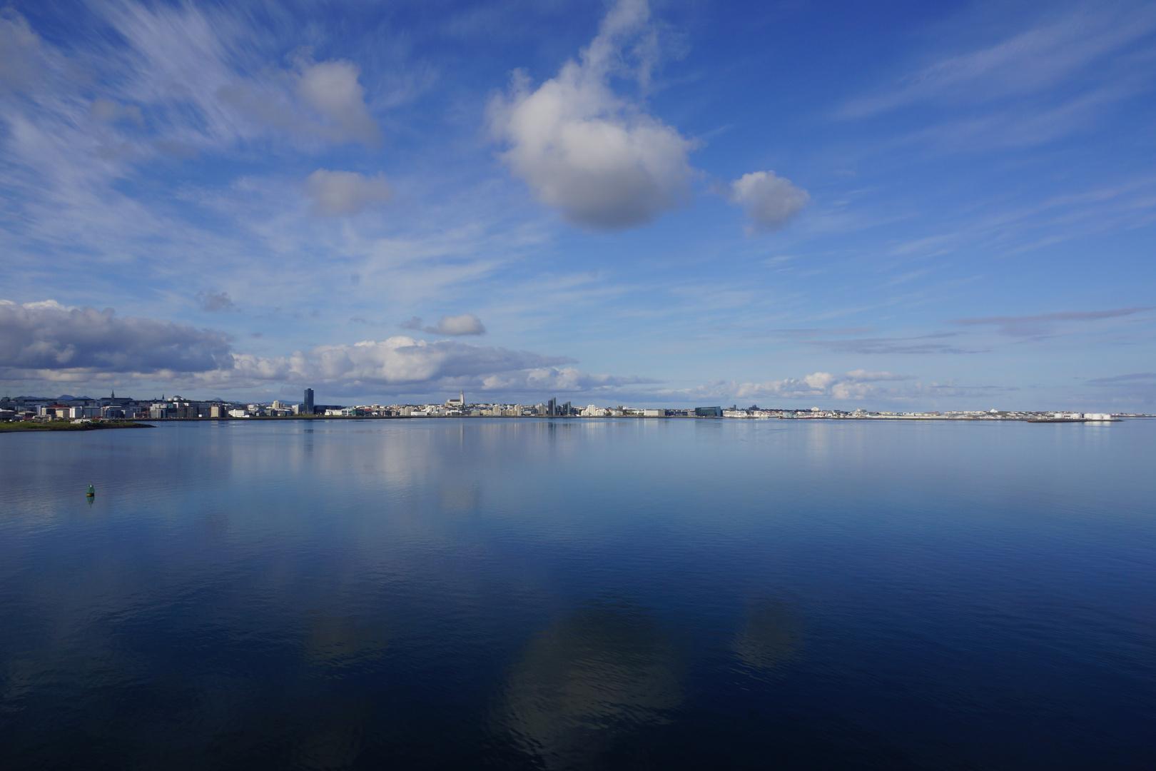 Anfahrt auf Reykjavik