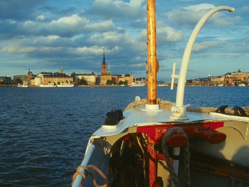 Anfahrt auf Stockholm