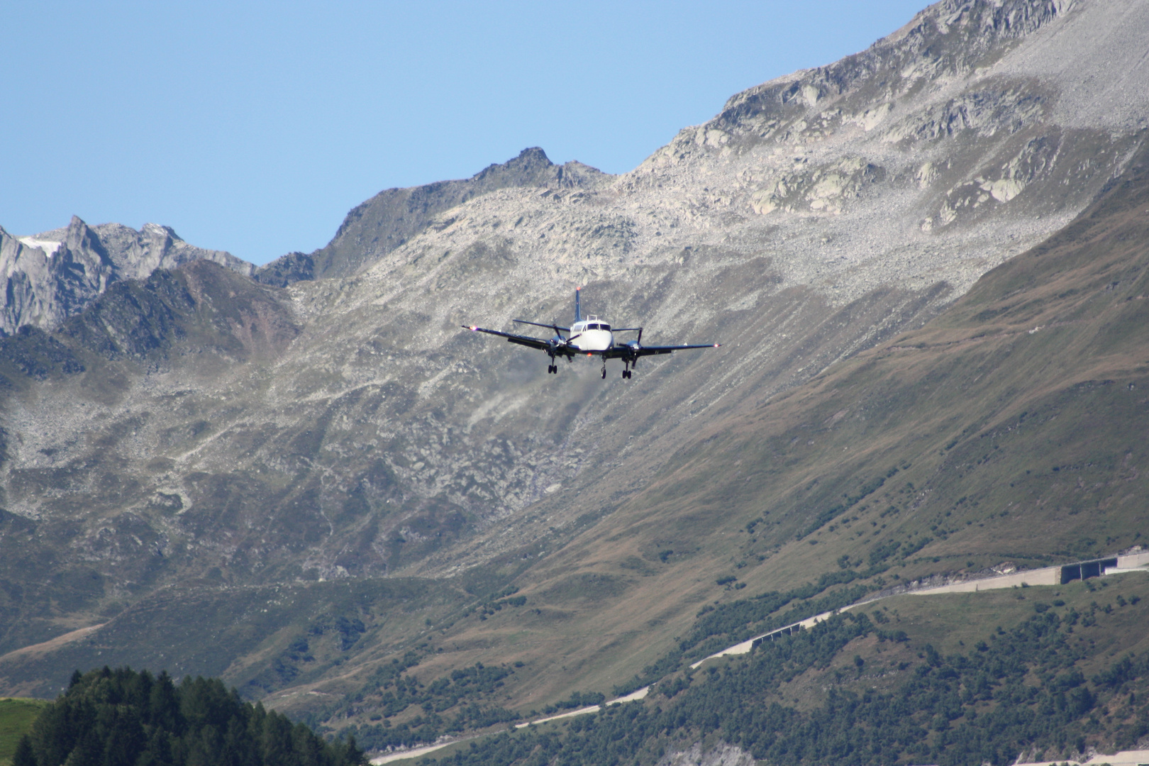 Anflug am Gotthard