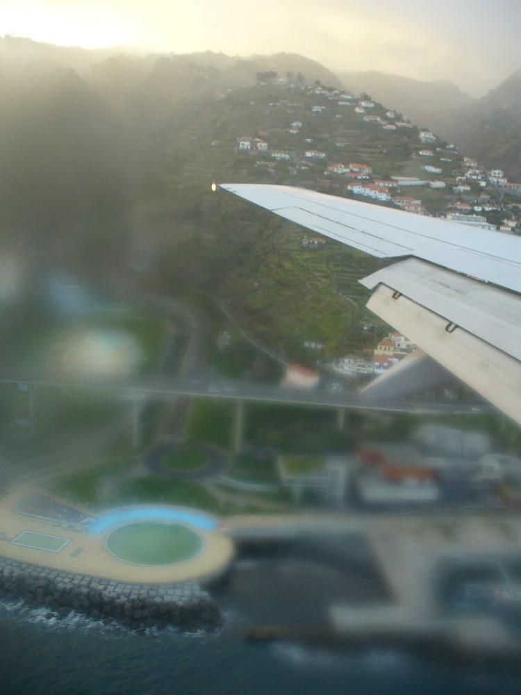 Anflug auf Aeroporto Funchal