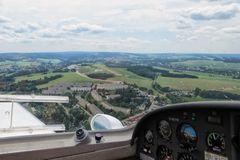 Anflug auf Auerbach