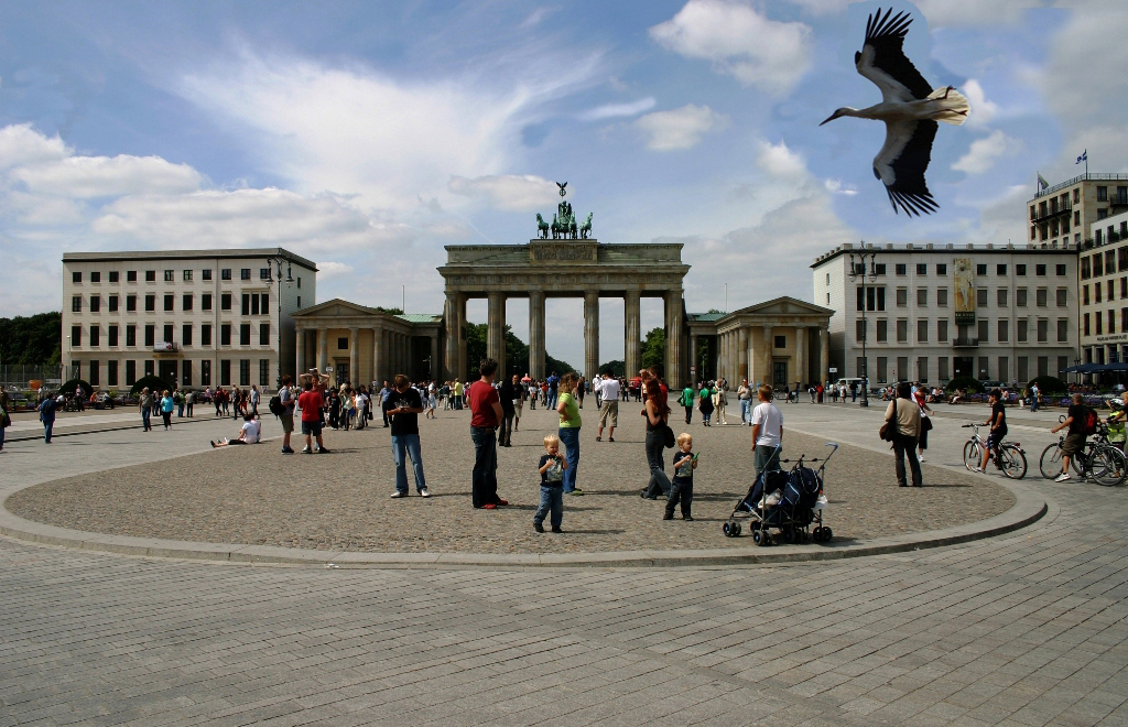Anflug auf Berlin