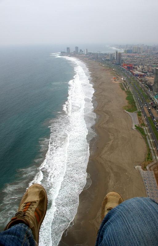 Anflug auf den Strand von Iquique