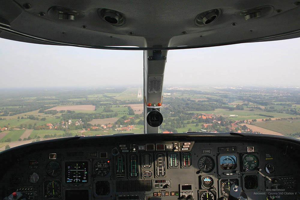 Anflug auf die 09L in Hannover