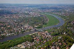 Anflug auf Dresden