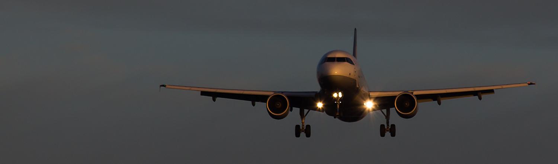 Anflug auf Frankfurt Flughafen