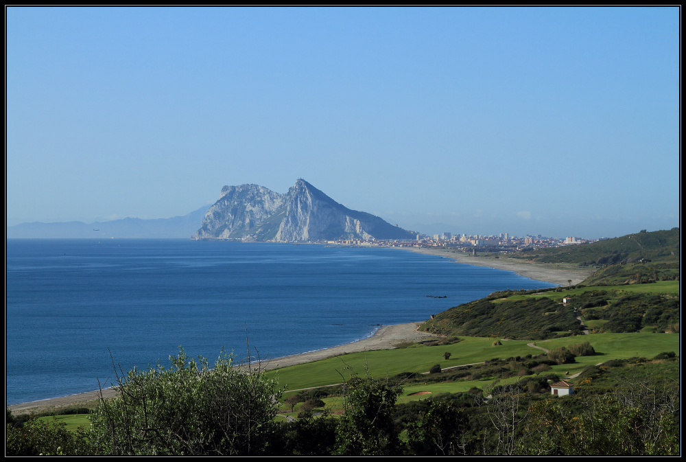 Anflug auf Gibraltar