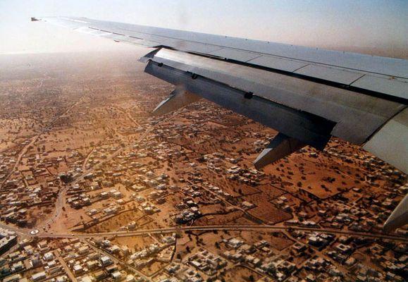 Anflug auf Houmt Souk, Djerba