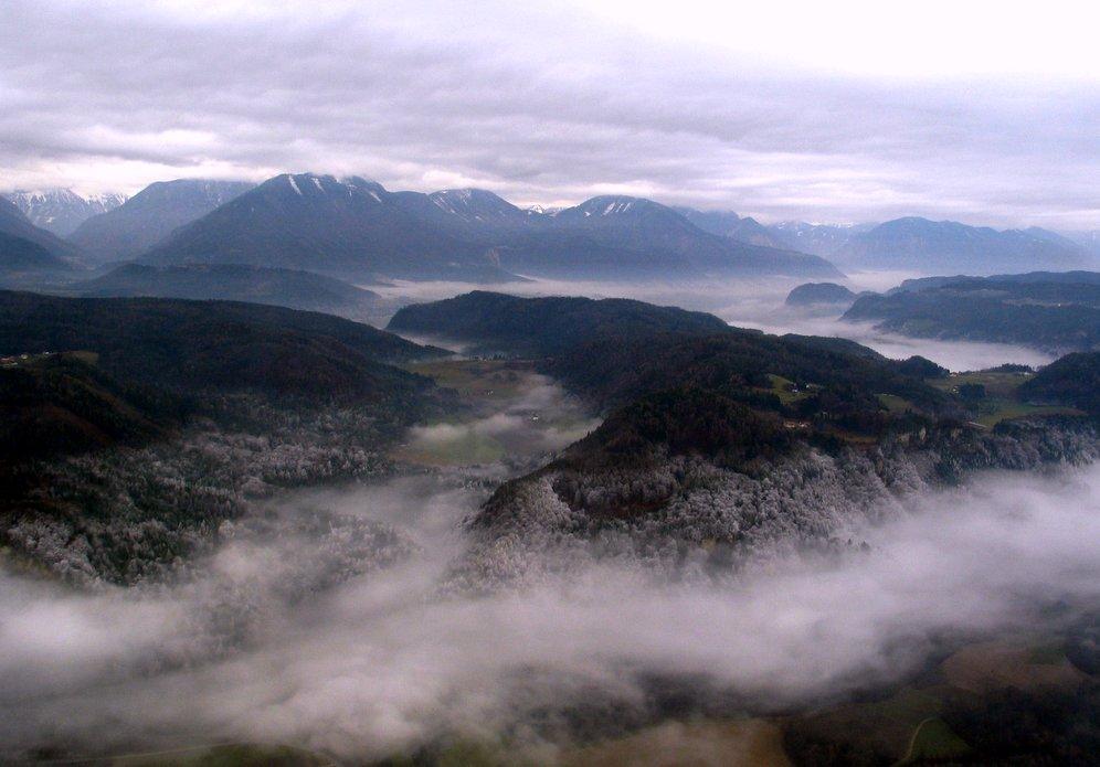 Anflug auf Klagenfurt