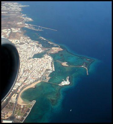 Anflug auf Lanzarote