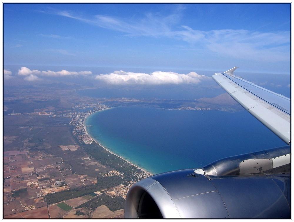 ... Anflug auf Mallorca ...
