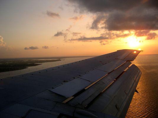 Anflug auf New Orleans