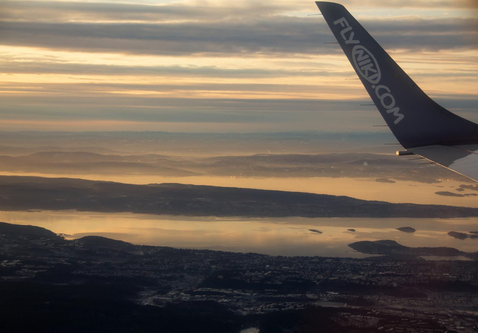 Anflug auf Oslo