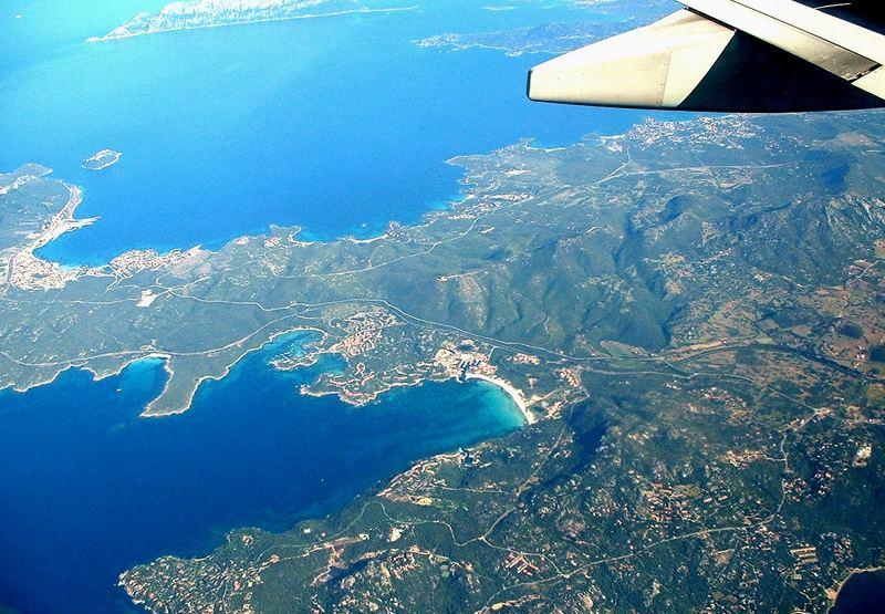 Anflug auf Sardinien