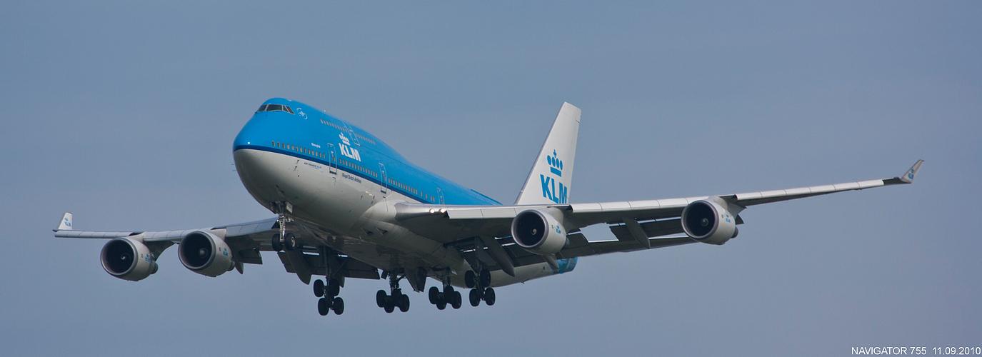 Anflug auf Schiphol.