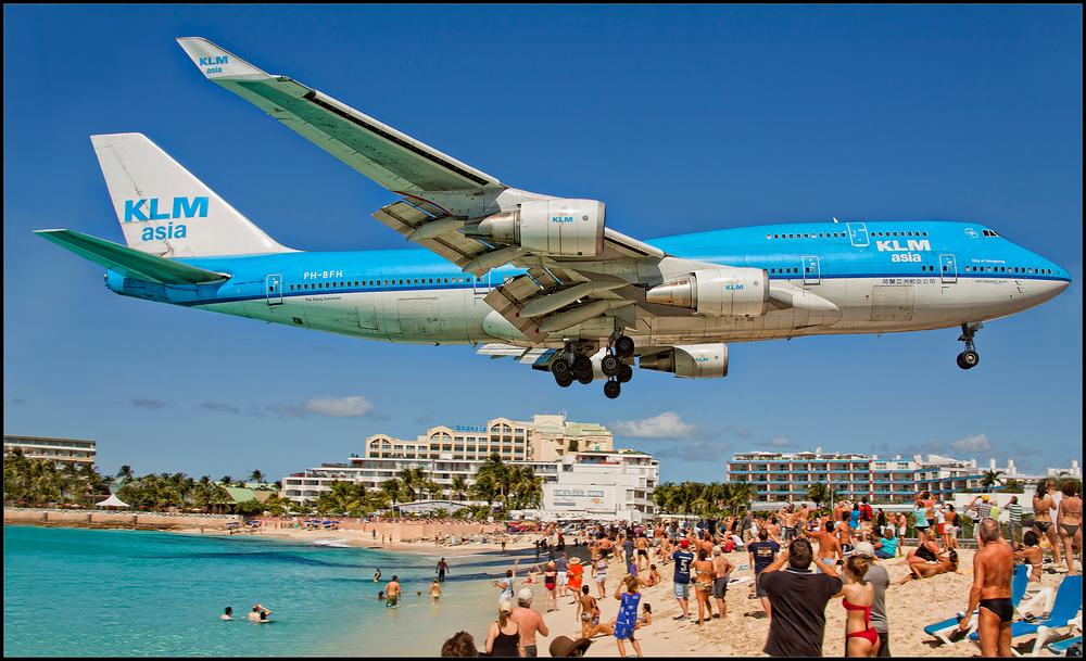 Anflug auf St.Maarten