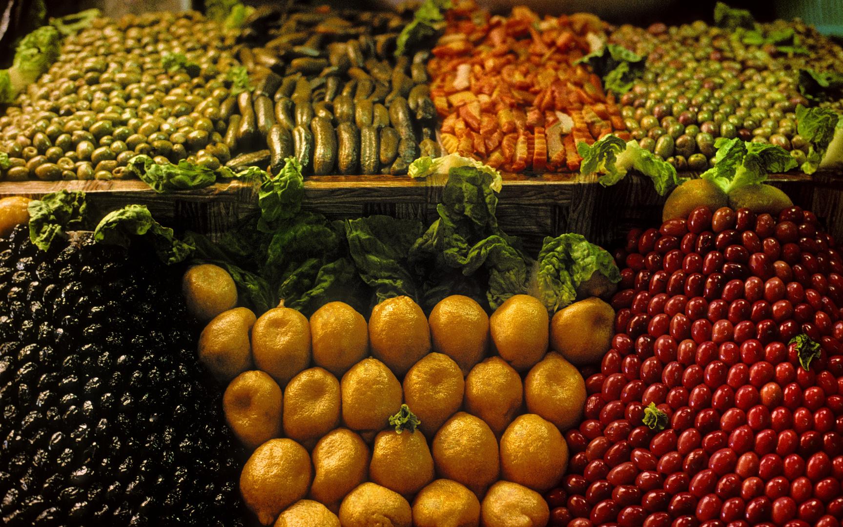 Angebot auf dem Markt in Rabat
