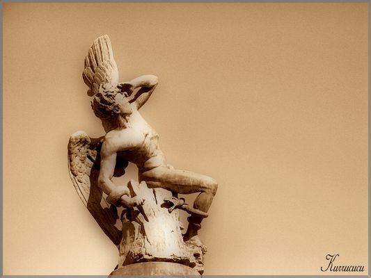 Angel en Sepia