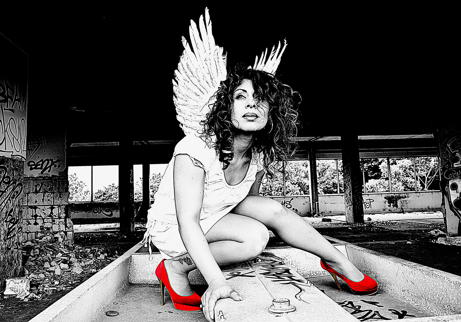 Angel in Lost Place
