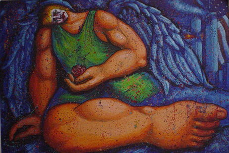 Angel Llorando por las Torres Gemelas