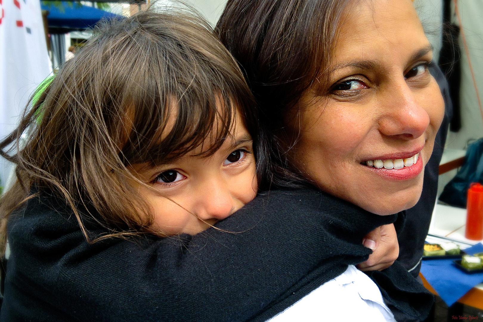 Angela mit Tochter