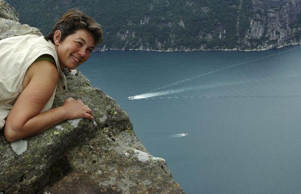 Angelika überm Lysefjord