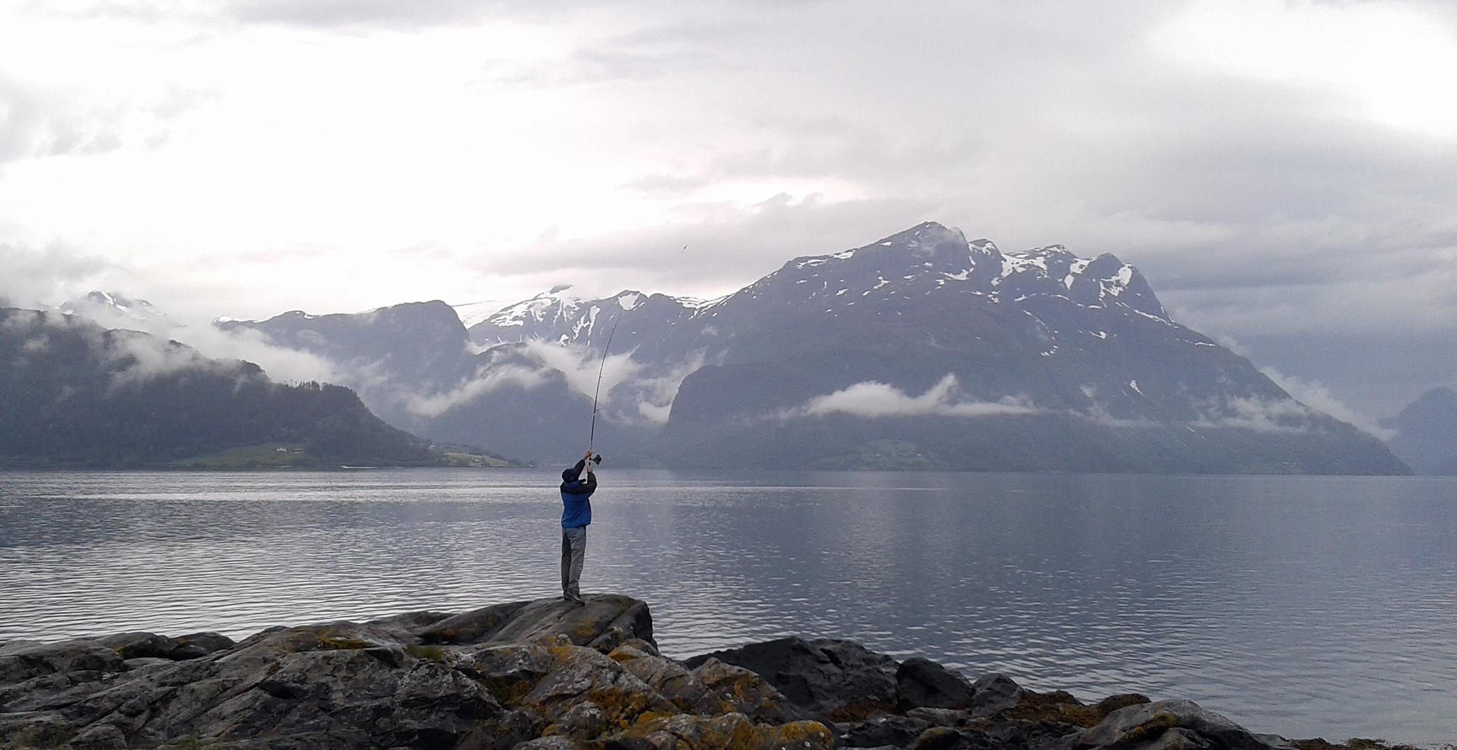 ..... angeln am Fjord