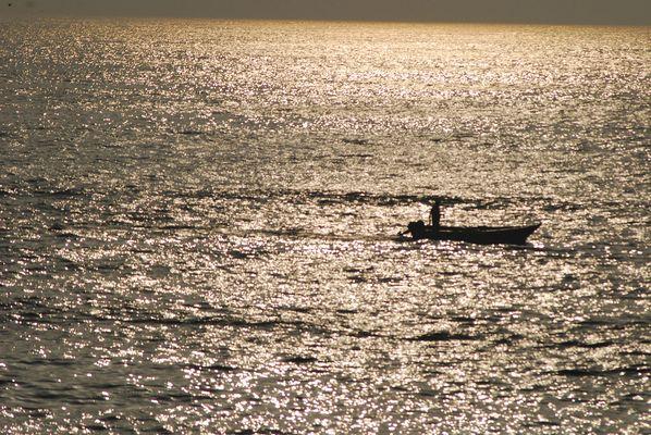 Angeln am Meer