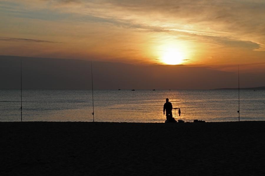 Angeln am Strand