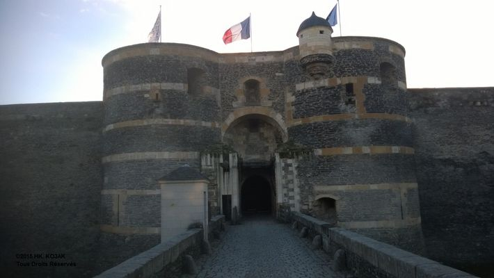 Angers MAINE Forteresse pont-levis