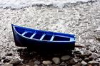Angespühltes Boot