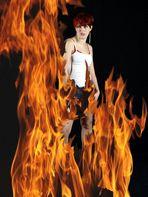 Angie im Feuer