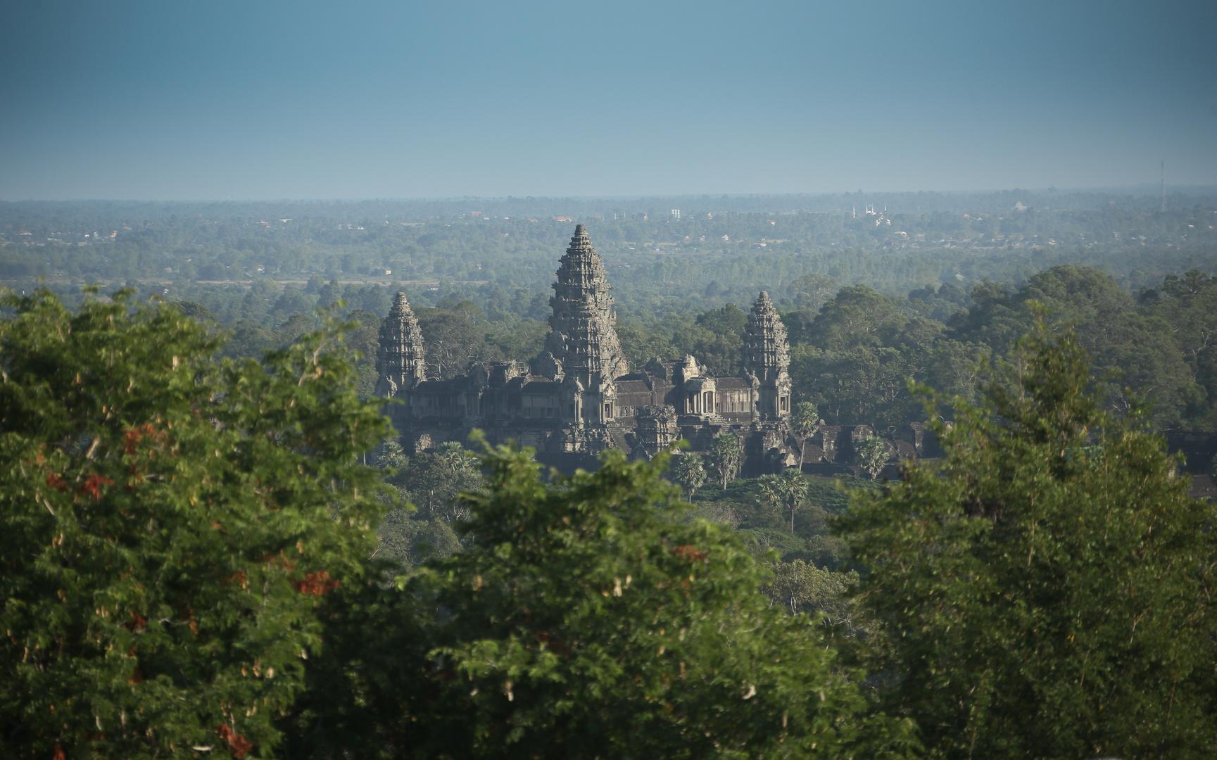 Angkor Wat aus der Ferne