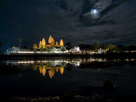 Angkor Wat im Mondschein