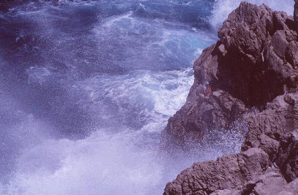 Angler am Meer