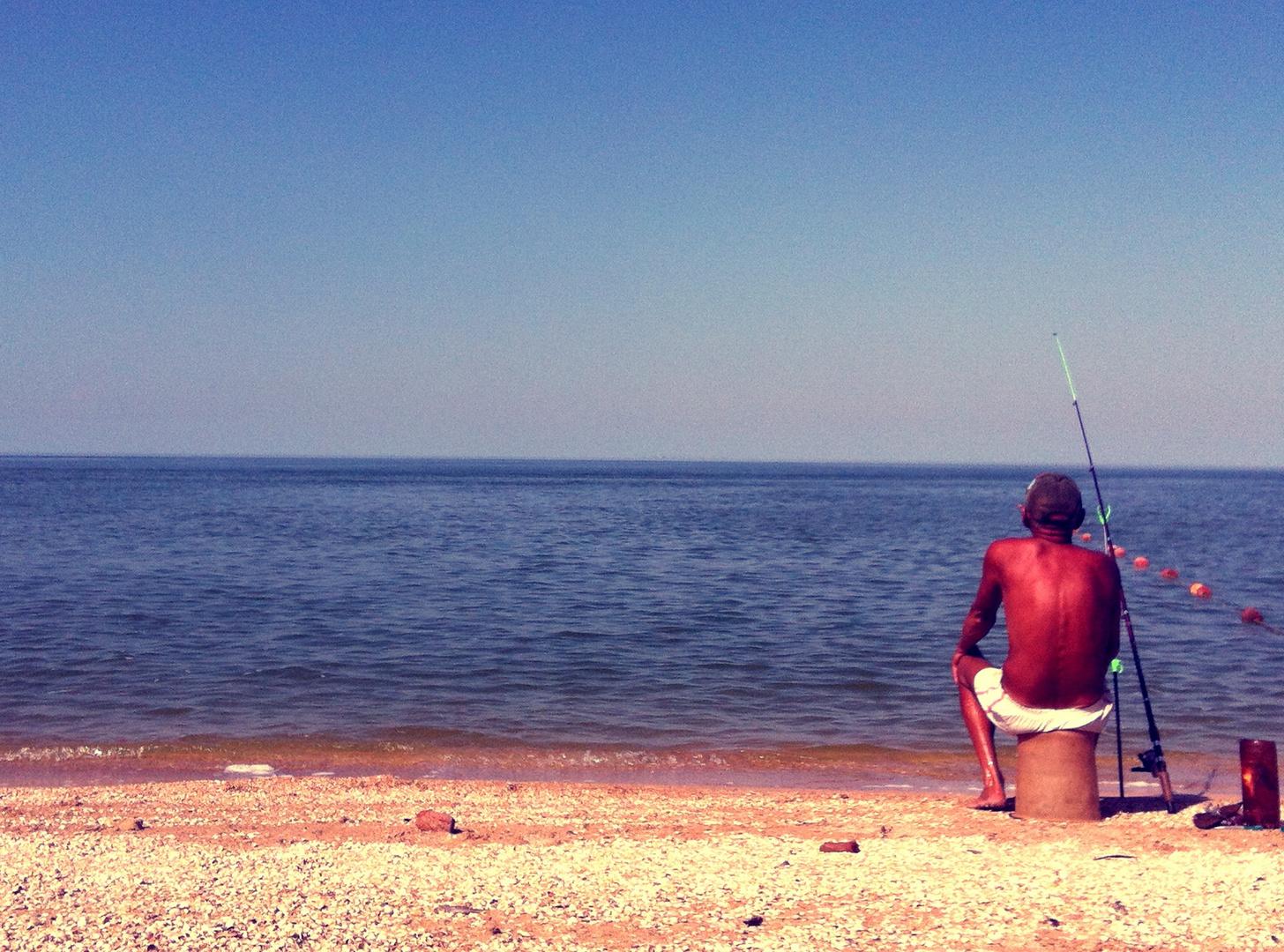 Angler am Meer 2