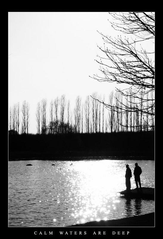 Angler am Steg