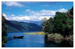 Angler auf dem Lake Rotoroa