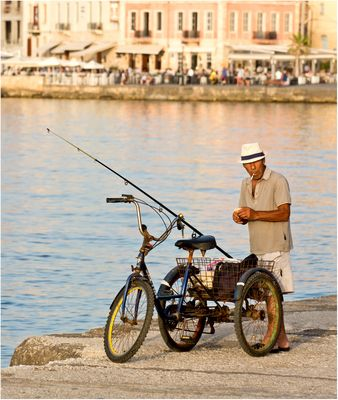 Angler auf Kreta