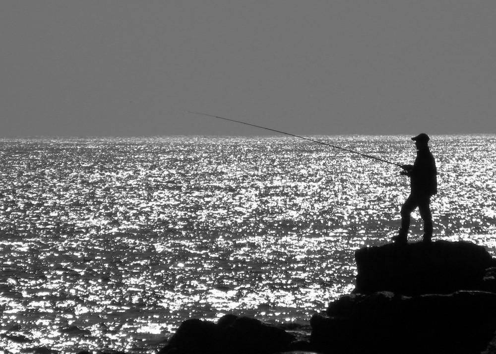 Angler bei Lissabon