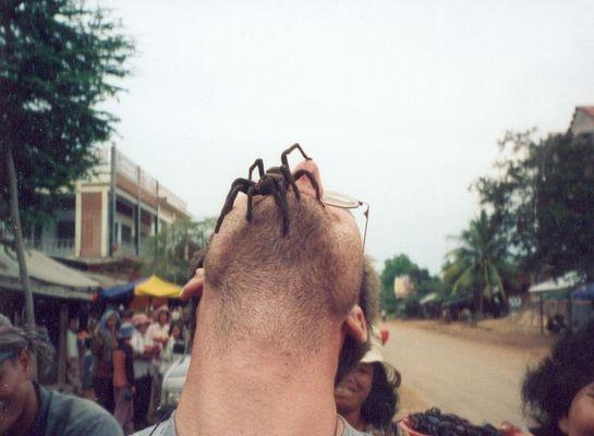 Angst ? in einem Dorf, nahe Phnom Penh