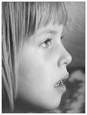 Anja mit 5 Jahren