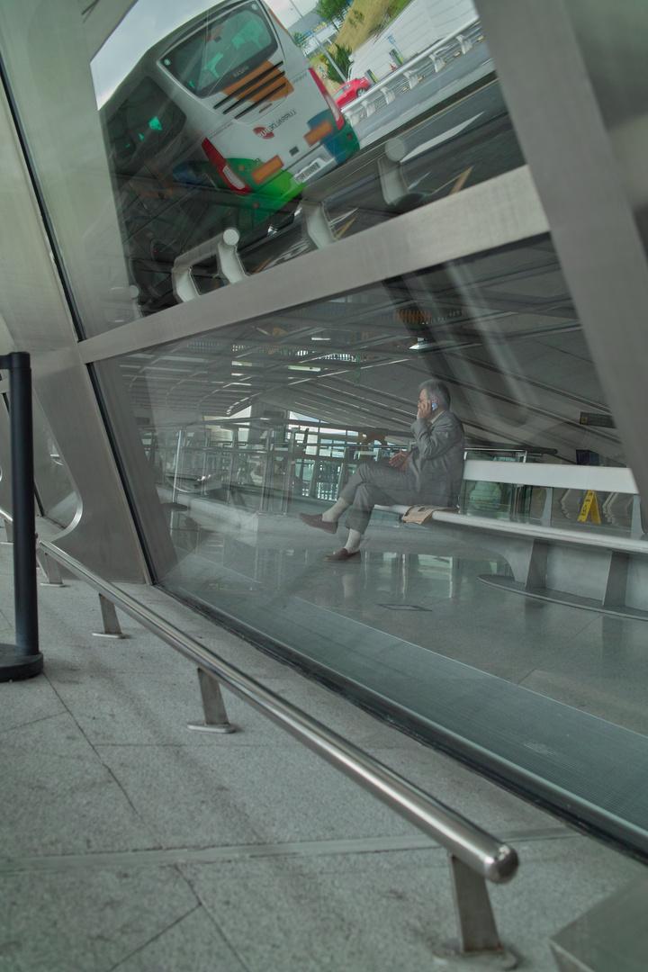 Ankunft Abafhrt Flughafen Bilbao