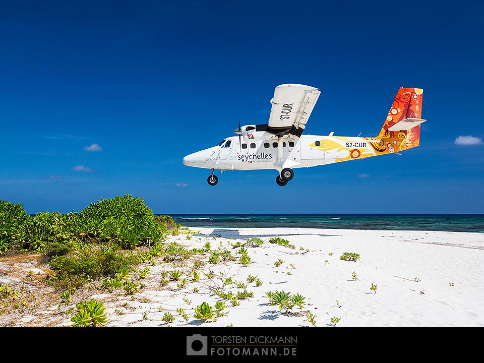 Ankunft auf Bird Island, Seychelles