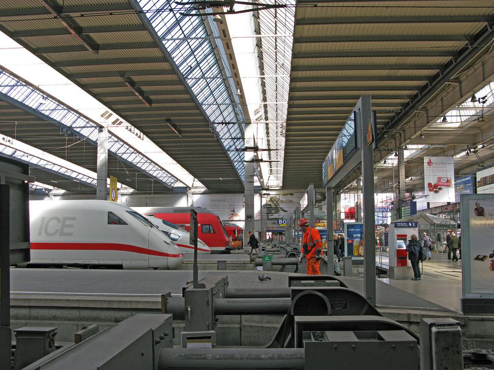 Ankunft im Hauptbahnhof