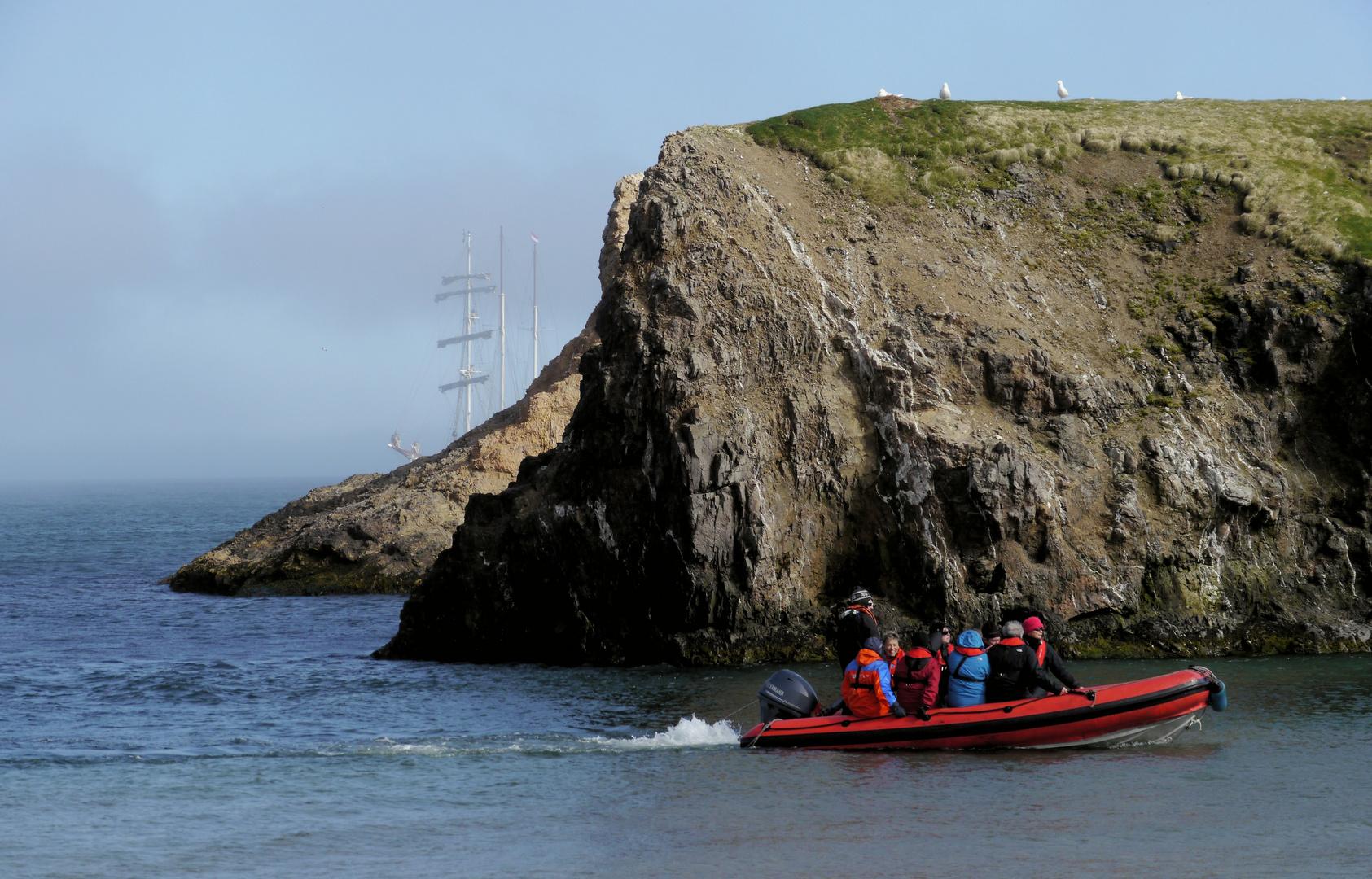 Anlandung Bäreninsel...
