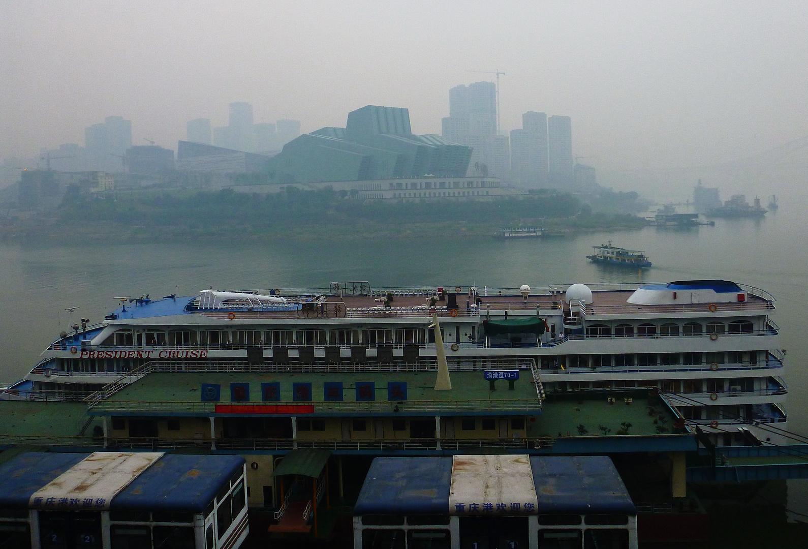 Anlandung in Chongqing