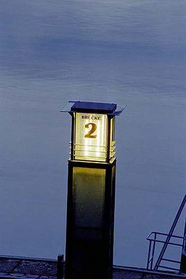 Anlegesteg der Elbschiffe in Dresden um 21.34 Uhr